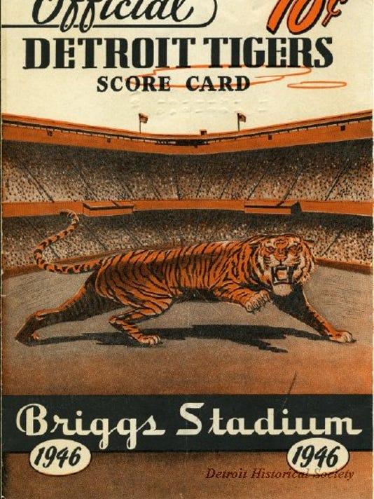 Briggs Stadium - 1946 Tigers Scorecard 2011050002.JPG