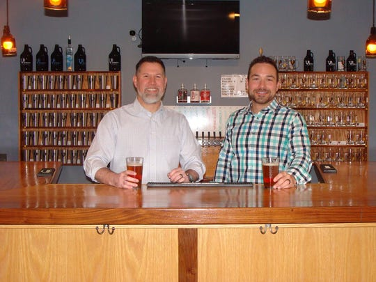 February 2018 file photo: Chris Thomas, left, and Chase Lowrey, the new owners of Victor's VB Brewery.