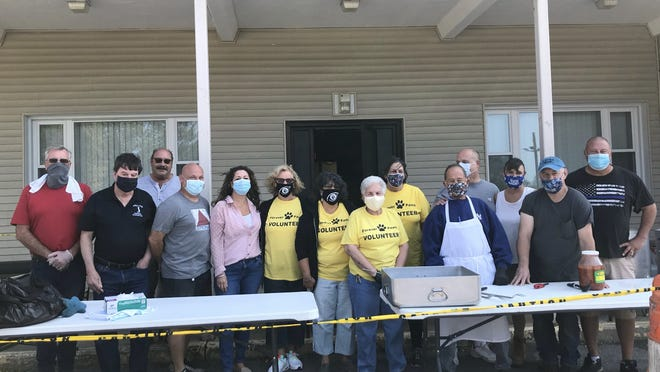 Fall River Elks Lodge 118 partnered with Forever Paws Animal Shelter for a take-out fundraiser where 150 clam boils were prepared and sold. Over $2,400 was raised and split equally among both nonprofit organizations.