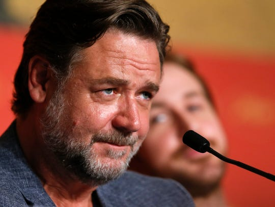 Russell Crowe attends the press conference for 'The