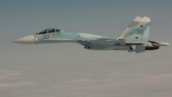 A Russian SU-27 fighter jet is shown in this file photo.