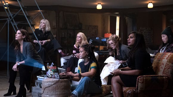 "The women of ""Ocean's 8"" hatch a scheme to rob the"