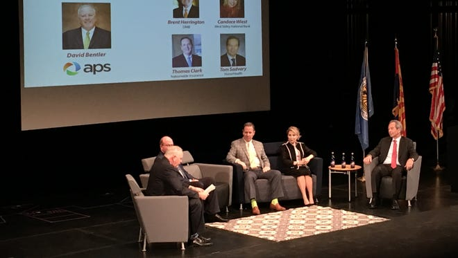 The Scottsdale Area Chamber of Commerce put on the fifth annual Scottsdale Forward at Scottsdale Community College on March 15, 2017. The event featured a CEO panel who gave their takes on the current and future state of the city's economy.