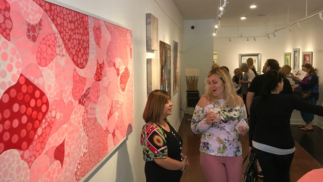 An artists reception at the BIZG87 gallery in Larchmont.