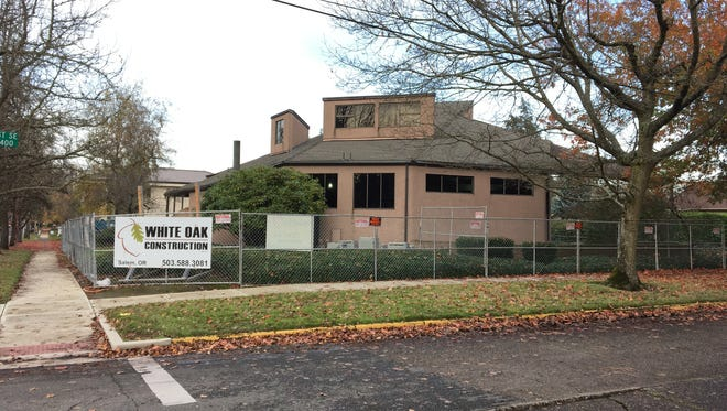 Renovation work at 1160 Liberty St. SE in Salem, Oregon, on Nov. 29, 2017.