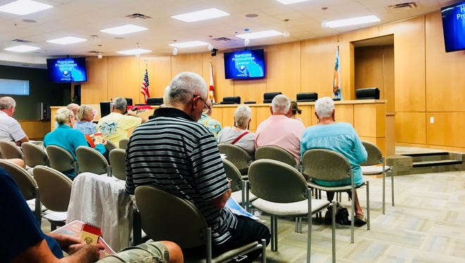 Residents of the City of Marco Island gathered for a hurricane preparedness seminar.