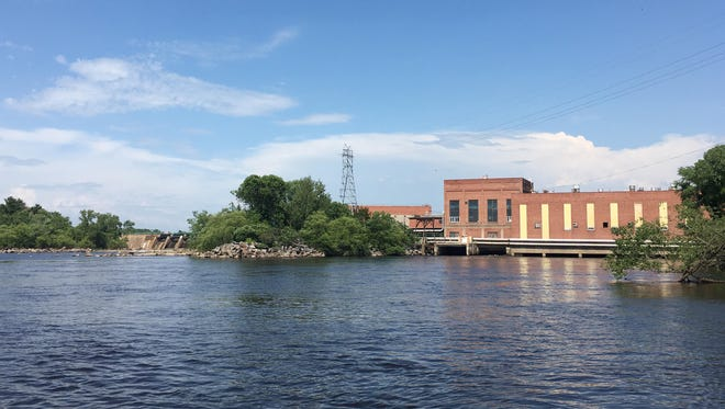 A view of the Biron Mill from the Wisconsin River on July 4, 2018.