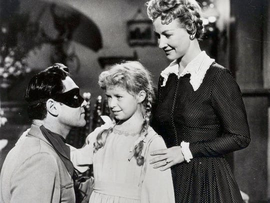 Clayton Moore, Beverly Washburn and Bonita Granville