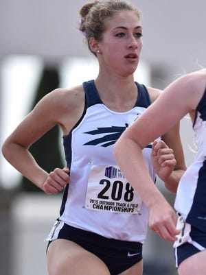 Nevada's Erika Root competes in the 2015 Mountain West Outdoor Track and Field Championship. That was her last outdoor meet leading into Saturday's race at Cal.