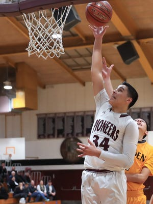Mt Whitney's Anthony Valencia scored 29 points against Golden West on Tuesday in a  West Yosemite League high school boys basketball game.