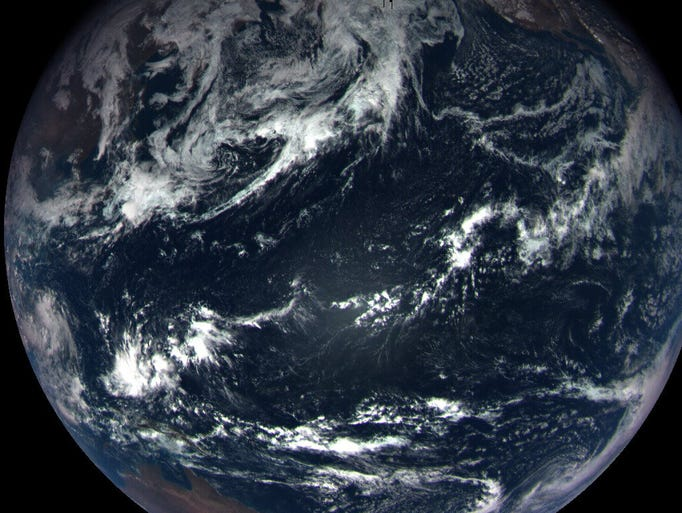 A color image of Earth from MapCam on OSIRIS-REx released