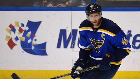David Backes is a big-bodied physical center.
