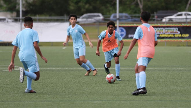 In this file photo, the Guam Under-15 National Team practices at the Guam Football Association National Training Center.