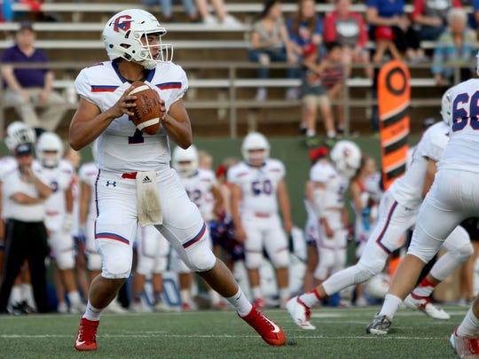 Graham quarterback Tucker Horn has set the school record of 53 touchdown passes entering Thursday's state semifinal against Texarkana Pleasant Grove.
