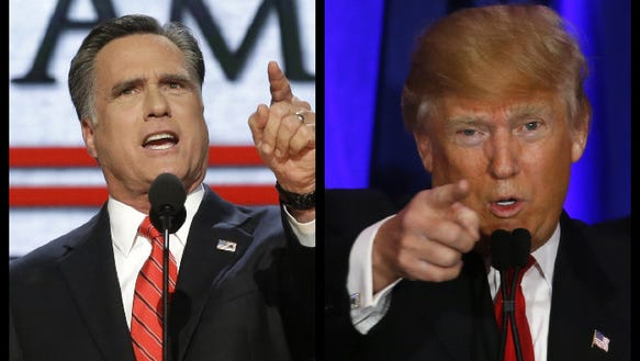 Quick! Romney and Trump are fighting on the Internet!