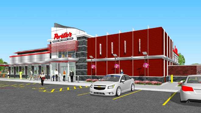 A rendering of the Portillo's that's slated to open in Springfield in the second half of 2021.