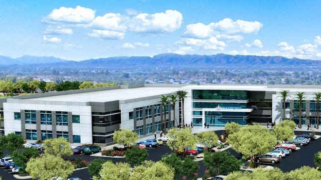 A rendering of the the Waypoint office campus in Mesa.