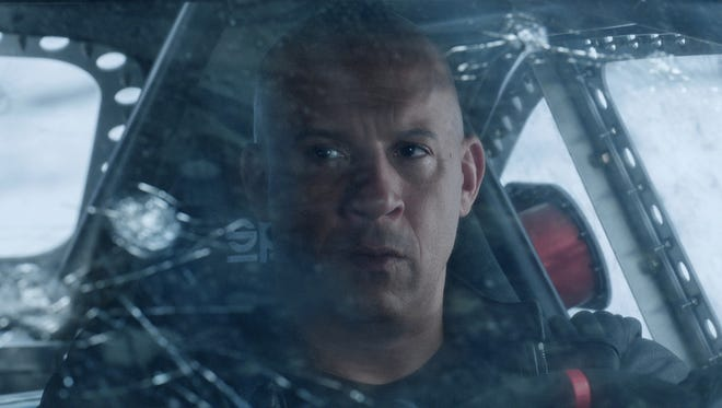 "Vin Diesel hits the road, again, in ""The Fate of the Furious."""
