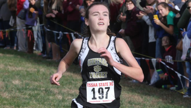 Central Magnet's Taylor Cuneo won her second straight Class A/AA state title in 2015.