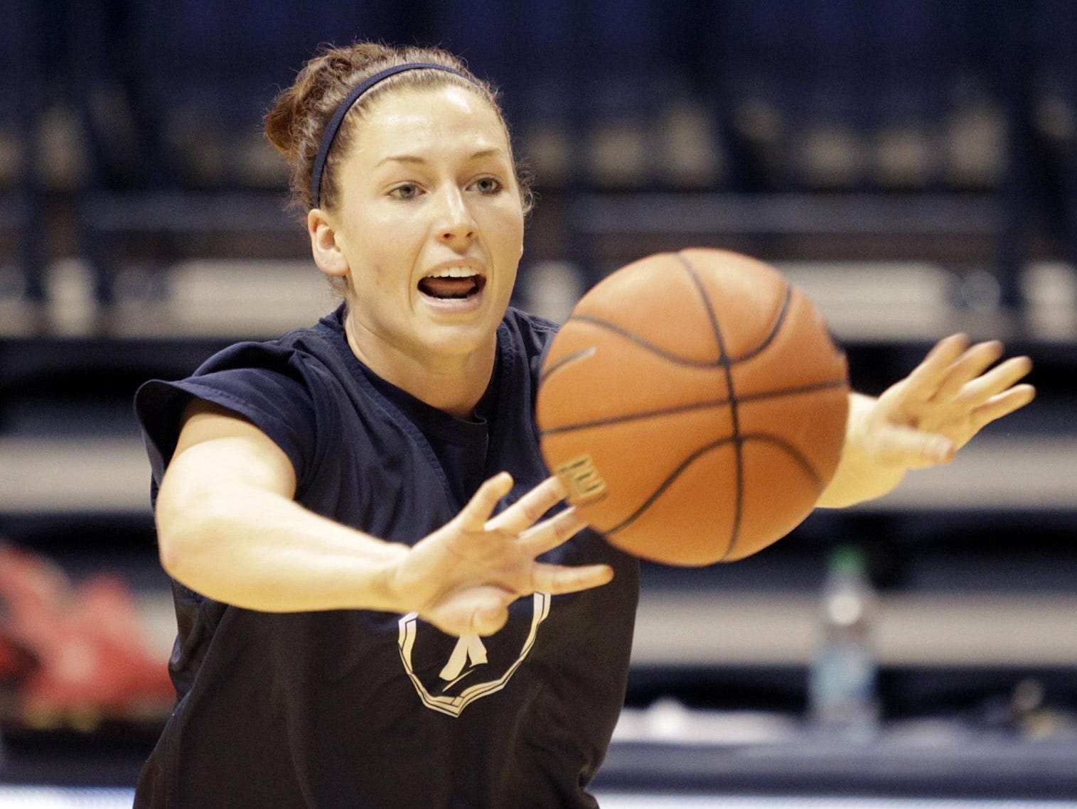 Friday, April 10, Colerain High School announced Ashley Wanninger, shown in a 2012 practice with Xavier University, would return to the Cardinals as the girls' head basketball coach.