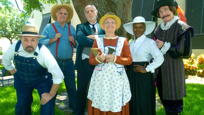 """The Brevard Theatrical Ensemble cast from a previous production of """"Mosquitoes, Alligators, and Determination."""" The all new ninth production of the program will be performed this weekend and next at the Library of Florida History in Cocoa."""