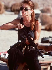 "Linda Hamilton stars in ""Terminator 2: Judgment Day"""