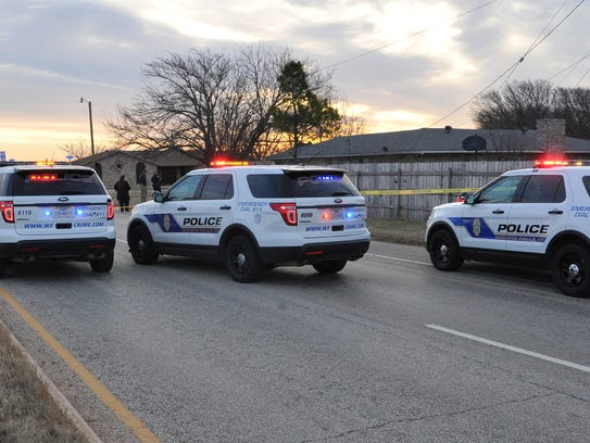 Wichita Falls police investigate an alleged drive-by shooting near the intersection of Kell East Boulevard and Ward Street Thursday morning.