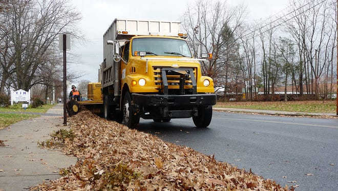 A Lebanon Highway Department crew collects leaves on South Eighth Street in this file photo. The city's leaf collection will conclude on Friday, Dec. 11. Residents and business owners are requested to have all leaves at curbside no later than 7 a.m. on Monday, Dec. 7, for the final leaf pickup during that week. Once crews have passed through a neighborhood next week, they will not return to collect additional leaves. Property owners will be responsible for disposing of their leaves after the final collection.