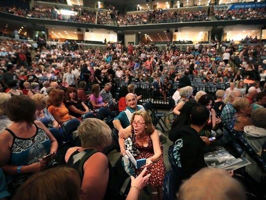 Elvis Presley fans flock to the FedExForum Wednesday