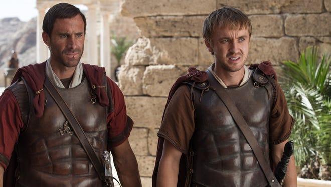 "Joseph Fiennes  and Tom Felton in ""Risen."""