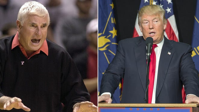 Bob Knight and Donald Trump.