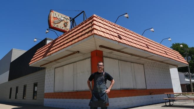 Mabel Gray chef-owner James Rigato stands in front of Doug's Delight in Hazel Park on July 2, 2016. Rigato and partner Ed Mamou plan to revive the longstanding community hallmark and seasonal ice-cream stand.
