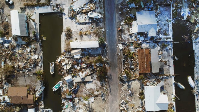 Wednesday, Sept. 13, 2017. Homes leveled by Hurricane Irma on Big Pine Key, Fla. Hurricane Irma did more than damage homes and wash out roads in the Florida Keys. The storm wiped out the dreams of many of the small entrepreneurs who populate the independent-minded islands.