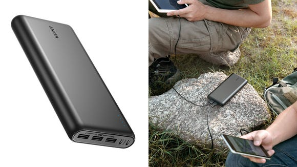 Charge your phone and have room to charge your friends' devices too.