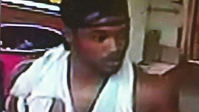 Surveillance image of suspected rooftop burglar