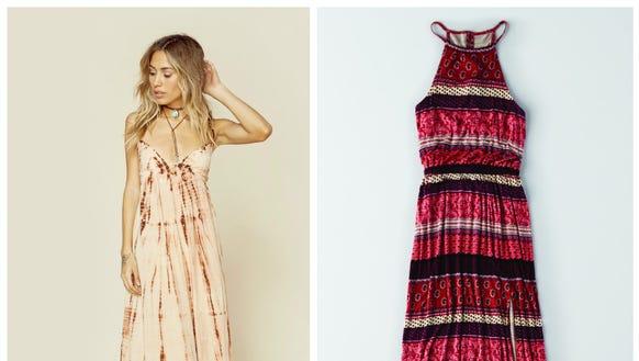Tie dye maxi dress $185 at shopplanetblue.com; Soft