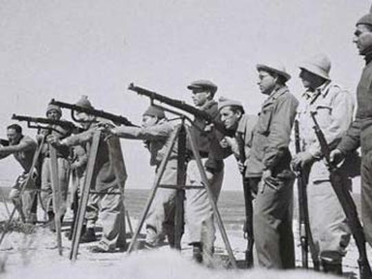 Haganah troops practice during Israel's War of Independence.