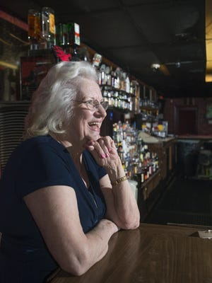Longtime bartender Melba Murphy, 80, chats with regulars at the Azalea - the iconic, oldest operating liquor bar - in Pensacola on Wednesday, March 15, 2017.