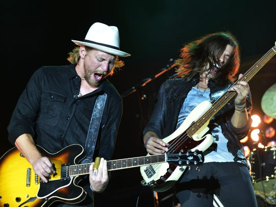 Bear Rinehart and Seth Bolt of NEEDTOBREATHE perform