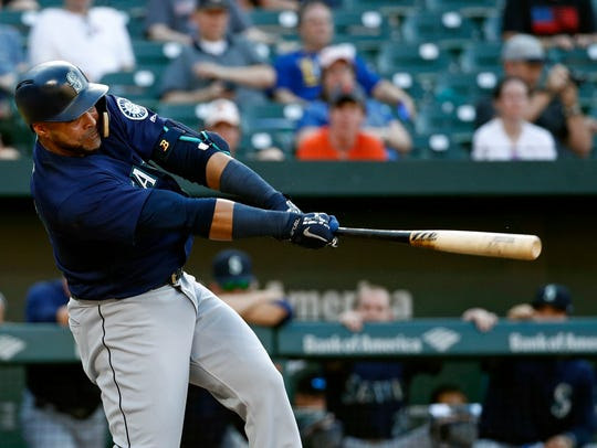 Nelson Cruz, who had missed the previous two games,
