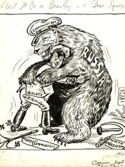 One of the thousands of editorial cartoons illustrated