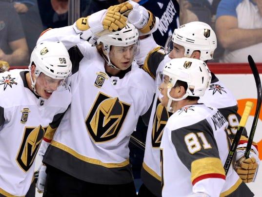 USP NHL: VEGAS GOLDEN KNIGHTS AT WINNIPEG JETS S HKN WPG VGK CAN MA