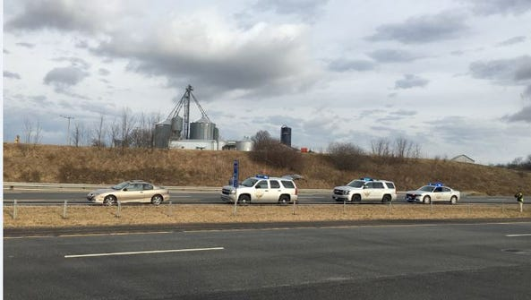 The Ohio Highway Patrol Tuesday stopped a vehicle reported