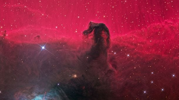 The Horsehead Nebula, in the constellation Orion. [Photo by Ken Crawford (Own work) [CC BY-SA 3 (https://creativecommons.org/licenses/by-sa/3)], via Wikimedia Commons]