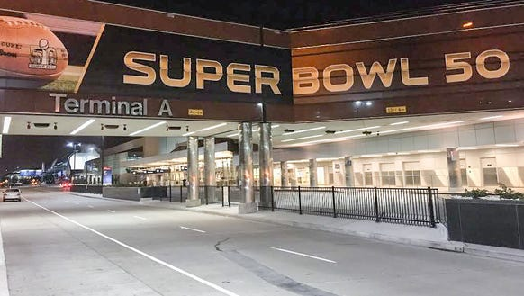 Passengers will find super-sized NFL graphics at Mineta