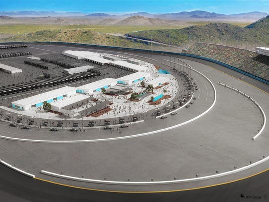 The new Infield Fan Zone that will be built as part of a $178 million renovation to Phoenix International Raceway in Avondale, Ariz., promises an up-close experience to the racers, their cars and teams.