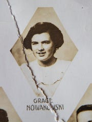 A photo of Grace Lesinski, then Grace Nowakowski, in