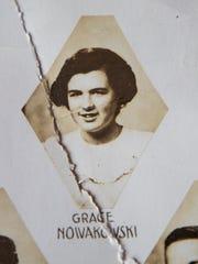 A photo of Grace Lesinski, then Grace Nowakowski, in