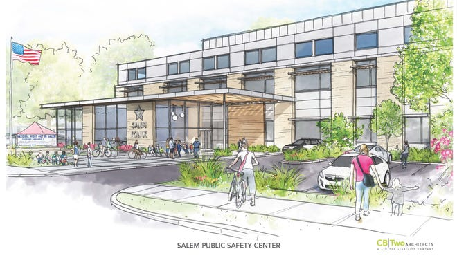 A conceptual rendering of the proposed new Salem Police Department facility