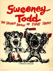 "A poster for the original Broadway production of ""Sweeney"